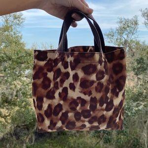 Banana Republic Cheetah / Leopard Print Tote Bag